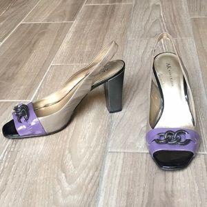Anne Klein Color-Block Peep-Toe Heels